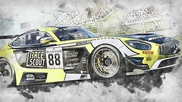 Painting - Mercedes Amg Gt3 - 82 by Andrea Mazzocchetti
