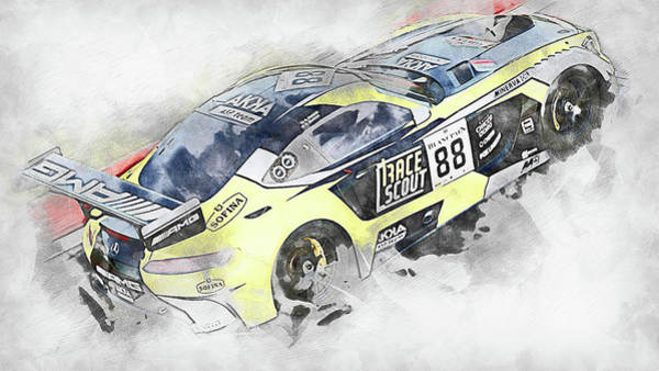 Painting - Mercedes Amg Gt3 - 83 by Andrea Mazzocchetti
