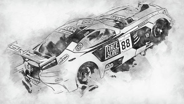 Painting - Mercedes Amg Gt3 - 84 by Andrea Mazzocchetti