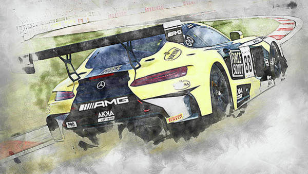 Painting - Mercedes Amg Gt3 - 85 by Andrea Mazzocchetti