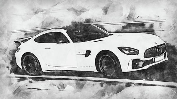 Painting - Mercedes Benz Amg Gtr - 59 by Andrea Mazzocchetti
