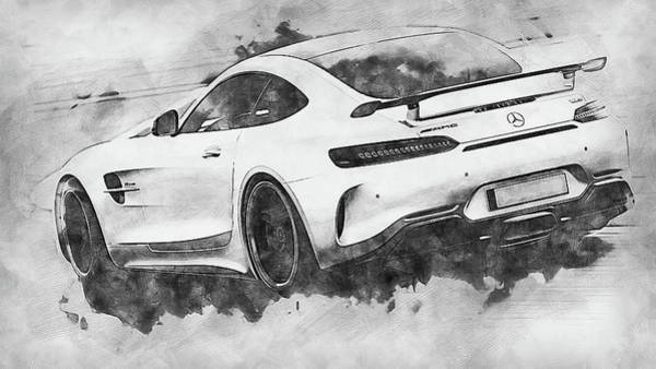 Painting - Mercedes Benz Amg Gtr - 61 by Andrea Mazzocchetti