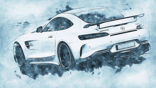 Painting - Mercedes Benz Amg Gtr - 62 by Andrea Mazzocchetti