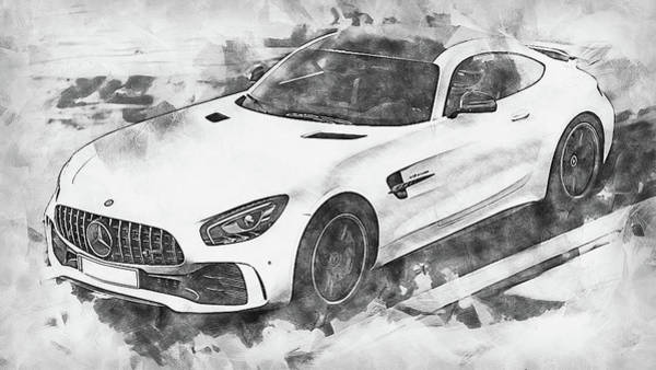 Painting - Mercedes Benz Amg Gtr - 63 by Andrea Mazzocchetti