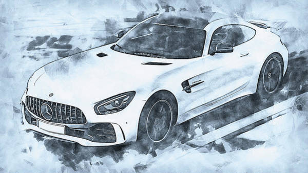 Painting - Mercedes Benz Amg Gtr - 64 by Andrea Mazzocchetti