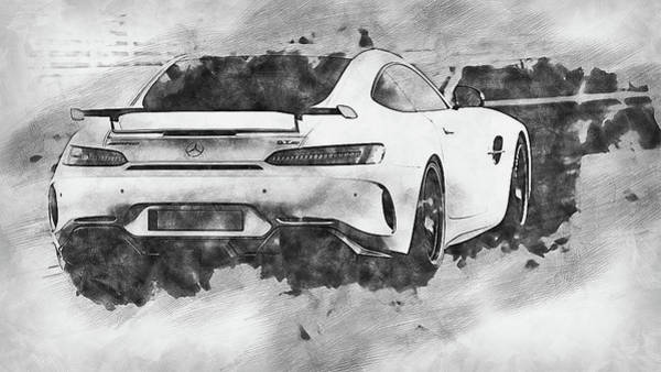 Painting - Mercedes Benz Amg Gtr - 67 by Andrea Mazzocchetti