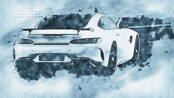 Painting - Mercedes Benz Amg Gtr - 68 by Andrea Mazzocchetti