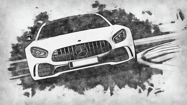 Painting - Mercedes Benz Amg Gtr - 69 by Andrea Mazzocchetti