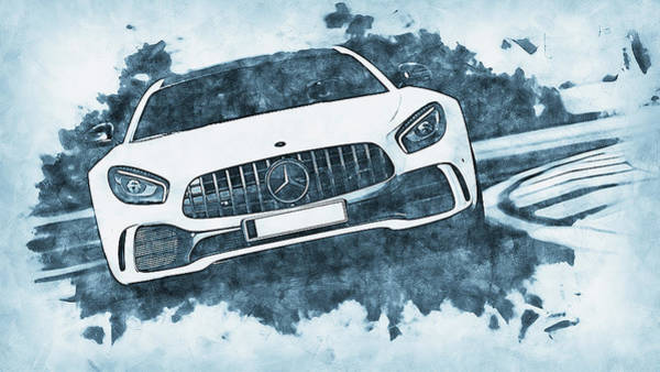 Painting - Mercedes Benz Amg Gtr - 70 by Andrea Mazzocchetti