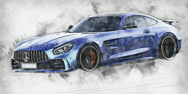 Painting - Mercedes Benz Amg Gtr - 71 by Andrea Mazzocchetti