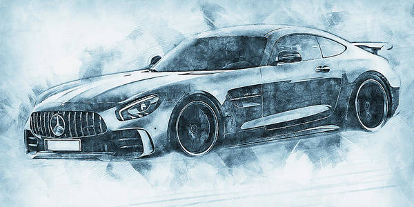 Painting - Mercedes Benz Amg Gtr - 72 by Andrea Mazzocchetti