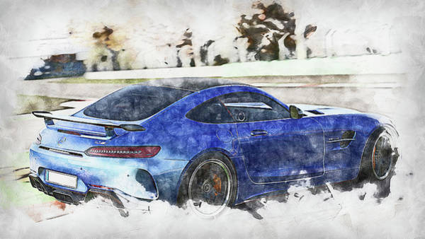 Painting - Mercedes Benz Amg Gtr - 73 by Andrea Mazzocchetti