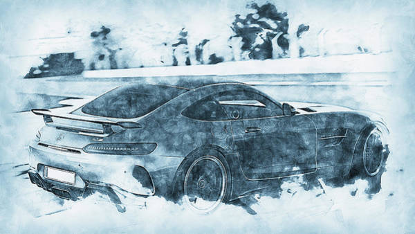 Painting - Mercedes Benz Amg Gtr - 74 by Andrea Mazzocchetti