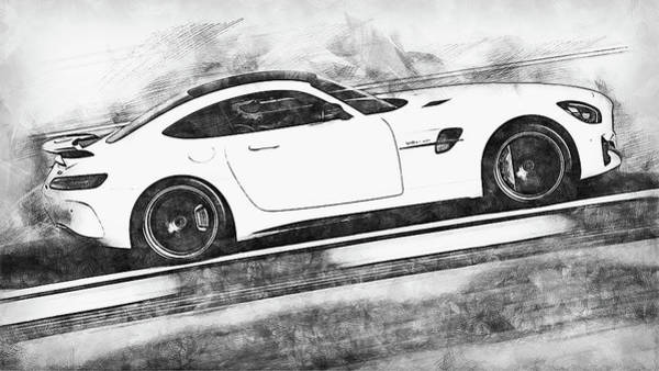 Painting - Mercedes Benz Amg Gtr - 75 by Andrea Mazzocchetti