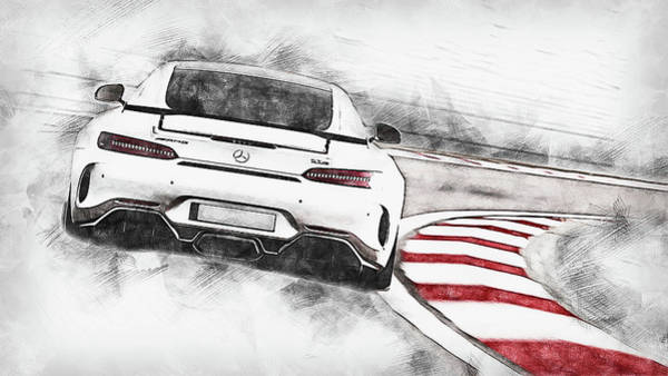 Painting - Mercedes Benz Amg Gtr - 77 by Andrea Mazzocchetti
