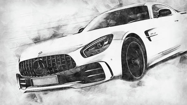 Painting - Mercedes Benz Amg Gtr - 78 by Andrea Mazzocchetti