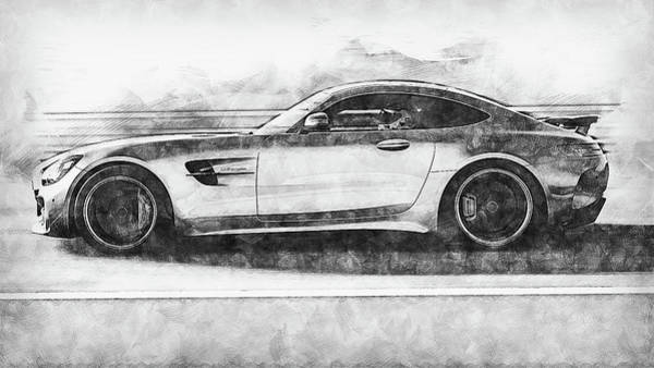 Painting - Mercedes Benz Amg Gtr - 79 by Andrea Mazzocchetti