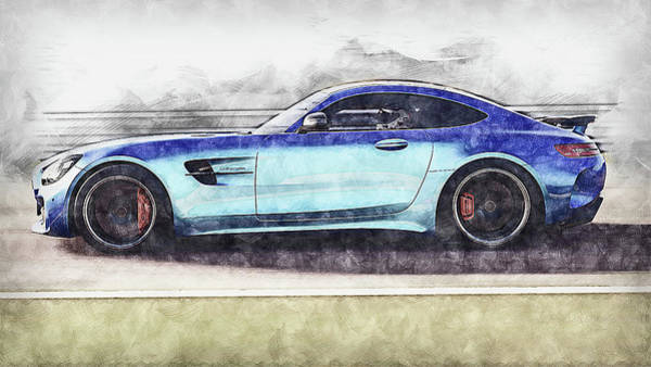 Painting - Mercedes Benz Amg Gtr - 80 by Andrea Mazzocchetti