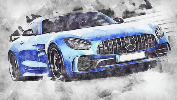 Painting - Mercedes Benz Amg Gtr - 81 by Andrea Mazzocchetti