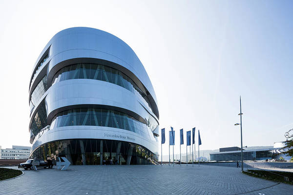 Parking Photograph - Mercedes Benz Museum, Stuttgart, Germany by Xu Jian