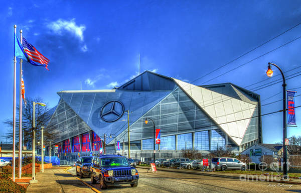 Photograph - Mercedes Benz Stadium Atlanta Super Bowl 2019 Art by Reid Callaway