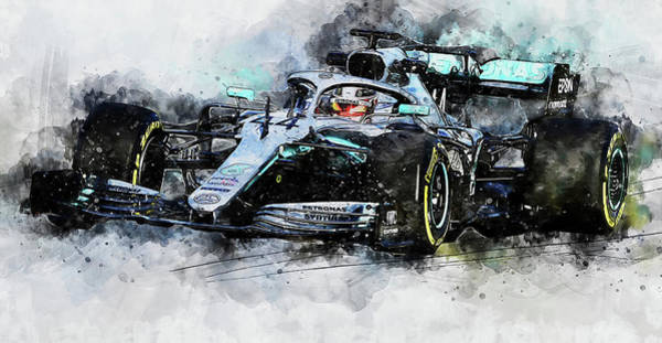 Painting - Mercedes W10 - 01 by Andrea Mazzocchetti