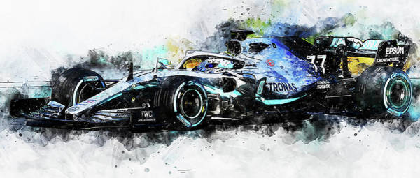 Painting - Mercedes W10 - 02 by Andrea Mazzocchetti