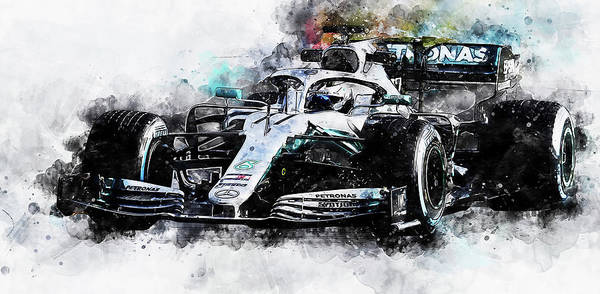 Painting - Mercedes W10 - 03  by Andrea Mazzocchetti