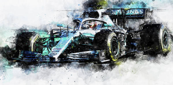 Painting - Mercedes W10 - 04 by Andrea Mazzocchetti