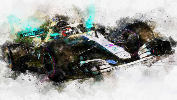 Painting - Mercedes W10 - 08 by Andrea Mazzocchetti