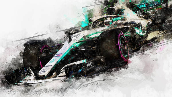 Painting - Mercedes W10 - 09 by Andrea Mazzocchetti