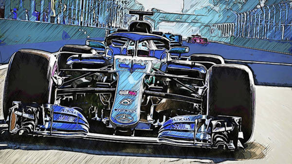 Painting - Mercedes W10 - 11 by Andrea Mazzocchetti