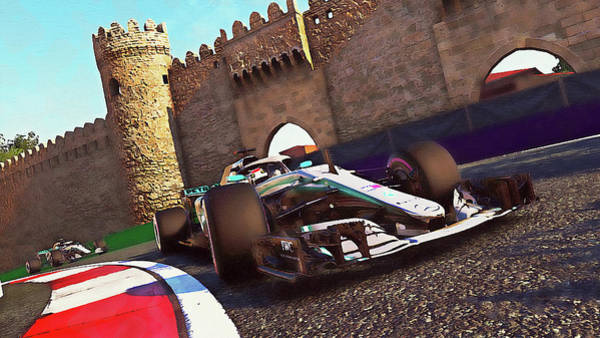 Painting - Mercedes W10 - 13 by Andrea Mazzocchetti