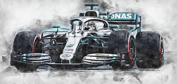 Painting - Mercedes W10 - 15 by Andrea Mazzocchetti