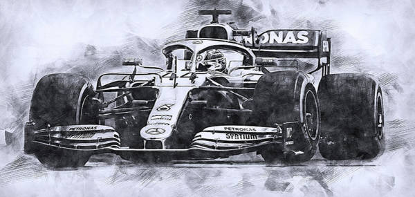 Drawing - Mercedes W10 - 16 by Andrea Mazzocchetti