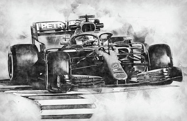 Drawing - Mercedes W10 - 18 by Andrea Mazzocchetti