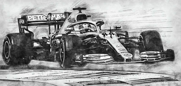 Drawing - Mercedes W10 - 20 by Andrea Mazzocchetti