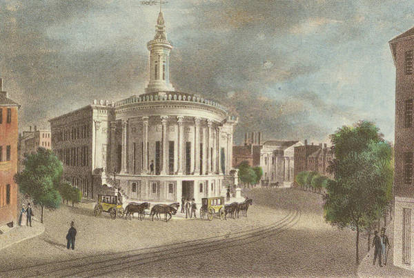 Merchants Exchange, 1838 Art Print