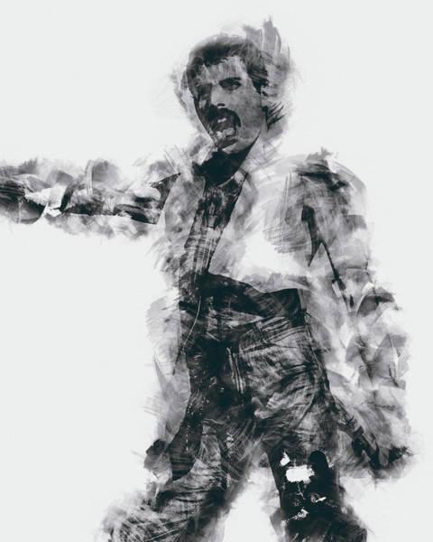 Frontman Wall Art - Painting - Mercury - 05 by Andrea Mazzocchetti