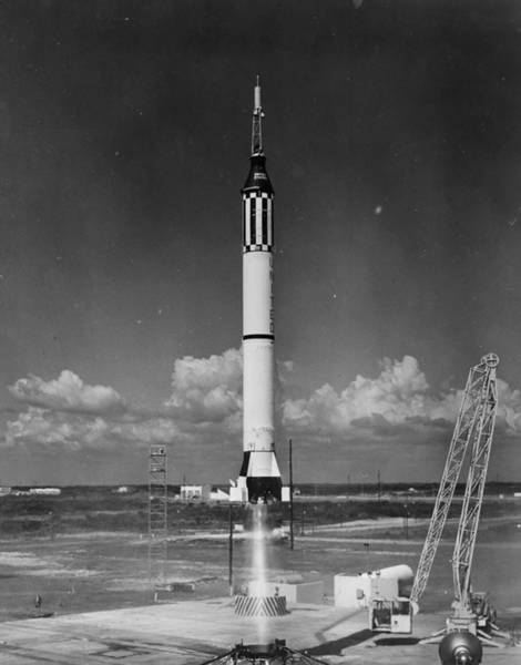 Taking Off Photograph - Mercury Launch by Fox Photos