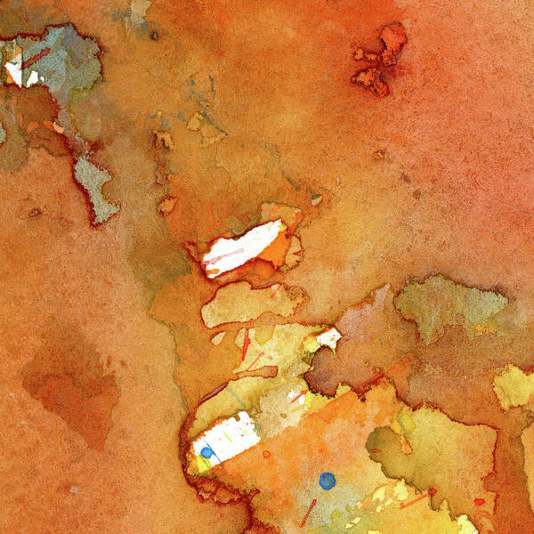 Pale Blue Dot Wall Art - Painting - Meritorious - Abstract Watercolor Painting by Susan Porter