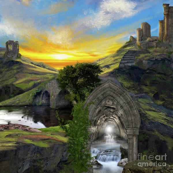Digital Art - Merlins Cave by Anne Vis