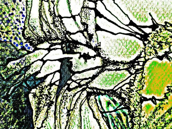 Painting - Mermaid-10 by Katerina Stamatelos
