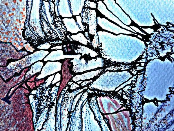 Painting - Mermaid-4 by Katerina Stamatelos