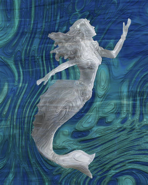 Wall Art - Painting - Mermaid - Beneath The Waves Series by Jack Zulli