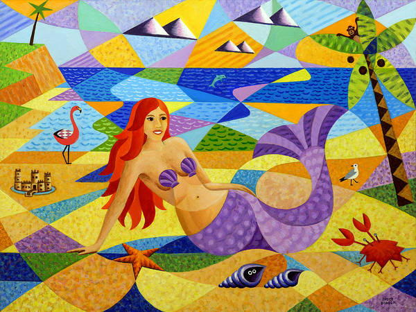 Sand Castle Painting - Mermaid by Bruce Bodden