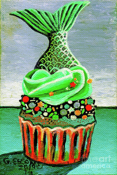 Icing Painting - Mermaid Cupcake by Genevieve Esson
