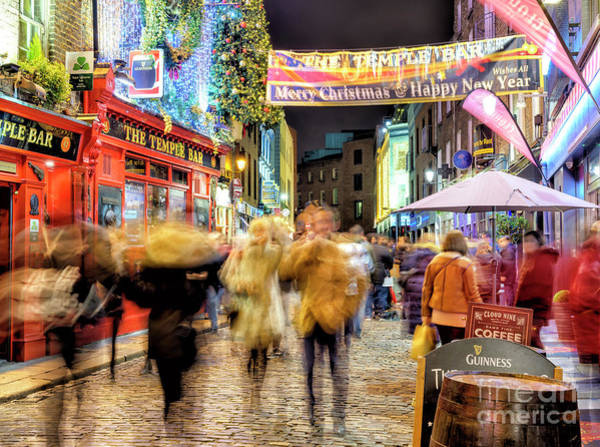 Wall Art - Photograph - Merry Christmas And Happy New Year In Dublin by John Rizzuto