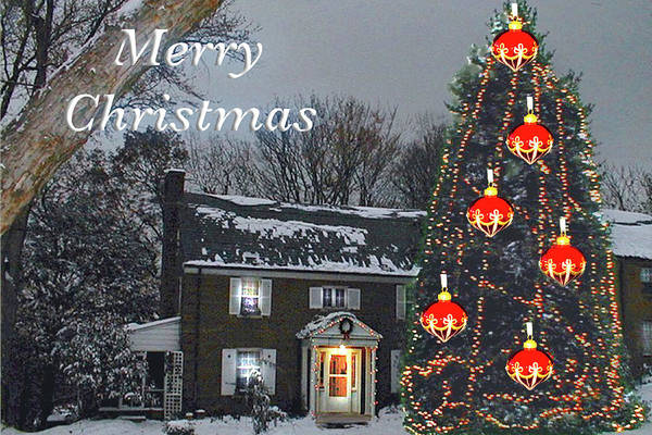 Photograph - Merry Christmas At Kathy's by Marvin Bowser