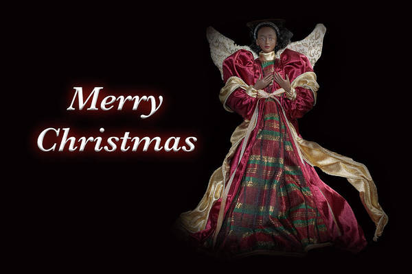 Photograph - Merry Christmas Black Angel by Marvin Bowser